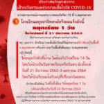 ประกาศแจ้งมาตรการ เฝ้าระวังการแพร่ระบาดเชื้อไวรัส COVID-19
